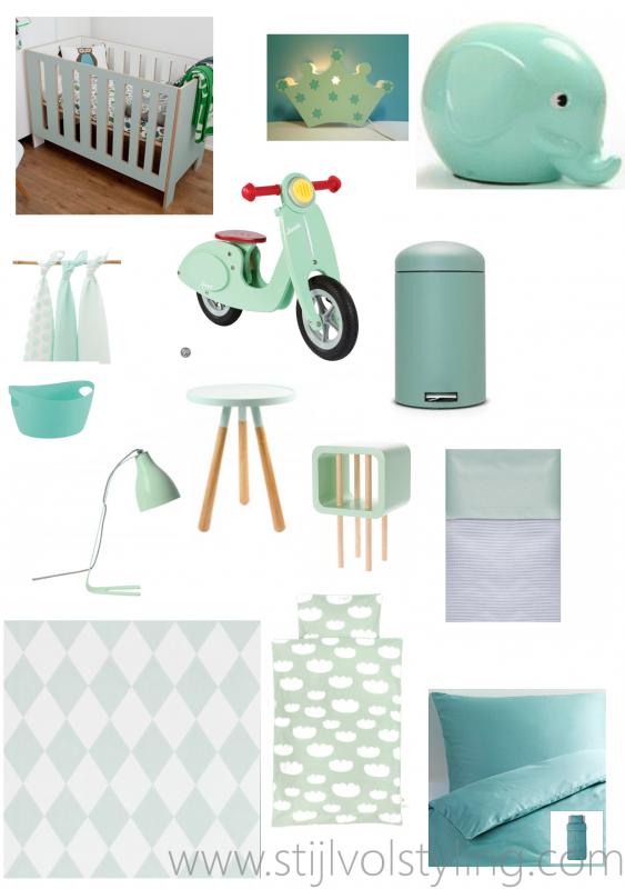 interieur  kids  mintgroen  babykamer/ kinderkamer inspiratie, Meubels Ideeën